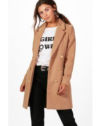 ec9064820 Petite Double Breasted Military Duster Coat