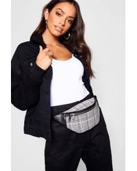 Boohoo - All Over Check Bumbag - Lyst