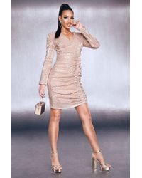 be53b4dbd3b6c Boohoo Boutique Elly All Over Sequin Bodycon Dress in Metallic - Lyst