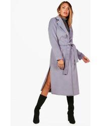 Boohoo | Freya Belted Robe Coat | Lyst