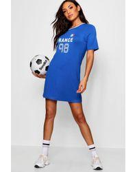 Boohoo - France World Cup Jersey T Shirt Dress - Lyst