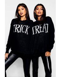 Boohoo - Halloween Trick Or Treat Twin Jumper - Lyst