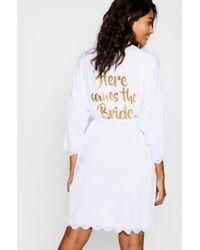 Boohoo - Robe de mariée à détail en dentelle Here Comes the Bride - Lyst