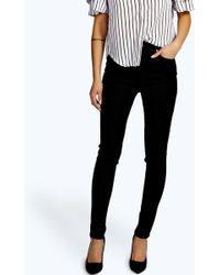 Boohoo - High Waisted Skinny Tube Jeans - Lyst
