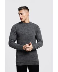 Boohoo - Long Sleeve Turtle Neck Knitted Sweater - Lyst