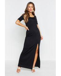 Boohoo - Petite Cap Sleeve Maxi Dress - Lyst