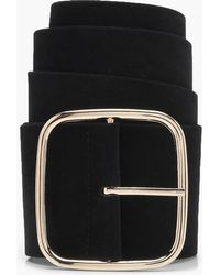 Boohoo - Square Buckle Suedette Belt - Lyst