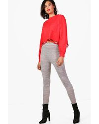 Boohoo - Skinny Knitted Jogger - Lyst