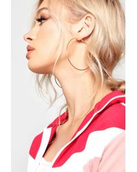Boohoo - Mixed Size Simple Hoop Earring Set - Lyst