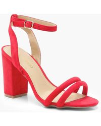 Boohoo - Molly Double Band Ankle Strap Heels - Lyst