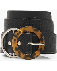 Boohoo Tortoiseshell Double Ring Belt