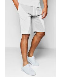 Boohoo - Spliced Jersey Shorts In Basketball Fit - Lyst