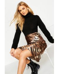 Boohoo Roll Neck Crop Jumper