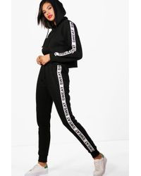 Boohoo - Ella Fit Athleisure Sweat Slogan Tracksuit - Lyst