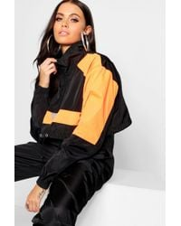 Boohoo - Colour Block Shell Tracksuit Top - Lyst