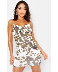 Boohoo Cowl Neck Backless Dress