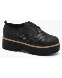 Boohoo - Chunky Platform Lace Up Brogues - Lyst