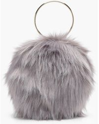 74ce350039df Boohoo - Isobel Double Ring Faux Fur Clutch - Lyst
