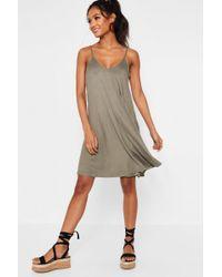 Boohoo - Kelly Strappy Swing Dress - Lyst