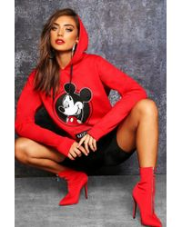 Boohoo - Disney Mickey Original Hoodie - Lyst