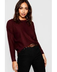Boohoo - Zip Back Knitted Jumper - Lyst