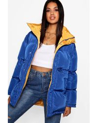 Boohoo - Funnel Neck Multiway Reversible Jacket - Lyst
