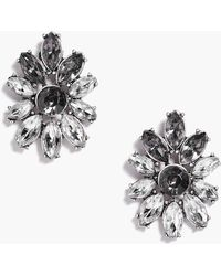 Boohoo - Violet Boutique Diamante Floral Earrings - Lyst