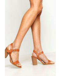d6bbed2000 River Island Nude Wooden Platforms in Pink - Lyst