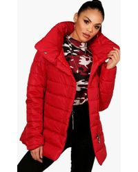 Boohoo - Funnel Neck Padded Jacket - Lyst