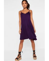 2e15f9636d49 Boohoo Tall Kelly Cut Out Knot Front Dress in Black - Lyst