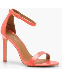 Boohoo - Neon Patent 2 Parts Heels - Lyst