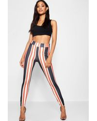 Boohoo - Bold Stripe Slim Fit Trousers - Lyst