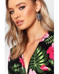 Boohoo - Leaf Earrings - Lyst