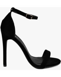 Boohoo - Maddie Suedette Skinny Barely There Heels - Lyst