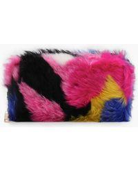ad7940ce89 Boohoo - Amy Multi Colour Faux Fur Purse - Lyst