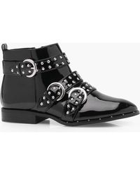 Boohoo - Pin Stud Strap Ankle Boots - Lyst