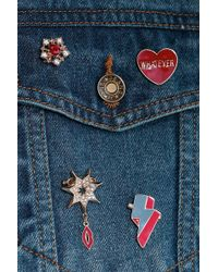 Boohoo - Missy Heart And Military Inspired Badges - Lyst