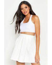 Boohoo - Tall Box Pleat Skater Skirt - Lyst