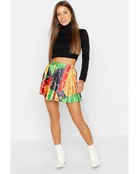 d97829a5d2 TOPSHOP Black Chain Print Denim Skirt in Black - Lyst