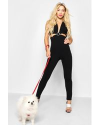 2ee5c5dd37fd White Cut Out Front Playsuit.  42. Missguided · Boohoo - Diamante Buckle  Jumpsuit - Lyst