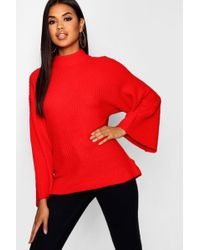 Boohoo Oversized Jumper With Funnel Neck
