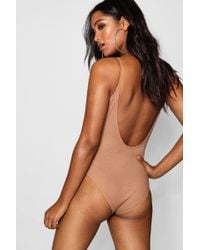Boohoo Scoop Back Knitted Bodysuit - Multicolour