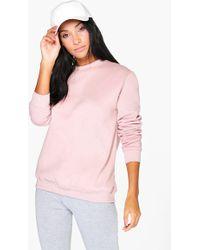 Boohoo - Sophia Basic Oversized Sweatshirt - Lyst