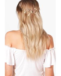 Boohoo - Neve Boutique Leaf Head Crown - Lyst
