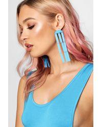 Boohoo - Statement Drop Earrings - Lyst