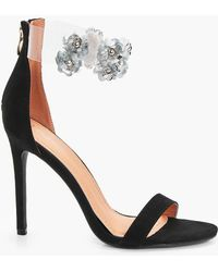 Boohoo | Mia Embellished Perspex Ankle Band 2 Part | Lyst