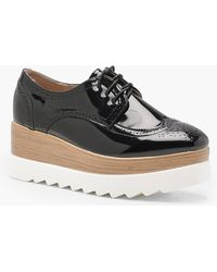 Boohoo - Cleated Lace Up Brogues - Lyst