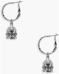 Boohoo - Boho Trinket Hoop Earrings - Lyst