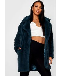 Boohoo - Jasmine Boutique Oversized Collar Faux Fur Coat - Lyst