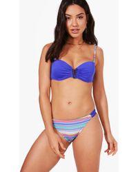 Boohoo Venice Underwired Strappy Bandeau Bikini